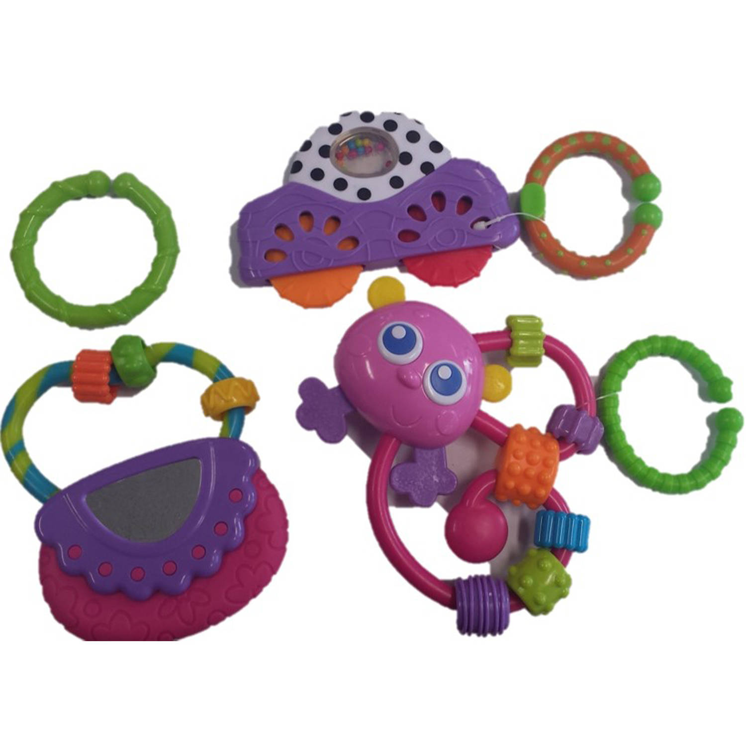 Playgro Go with Me Rattle Pack Girl, 3pk
