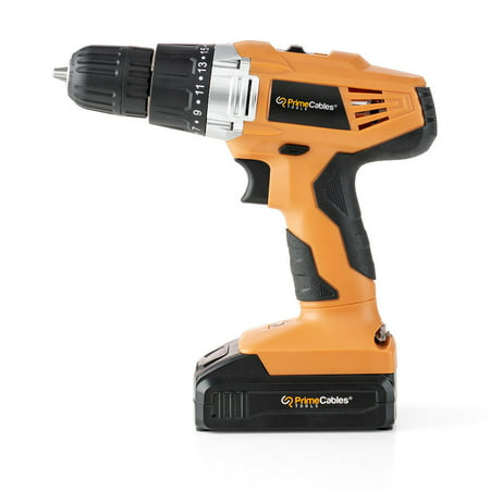 PrimeCables 20V Lithium-Ion Cordless Power Drill with Soft Grip Handle