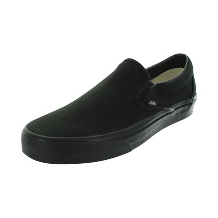 Vans Classic Slip-On (Black/Black) Men's Skate Shoes-7.5