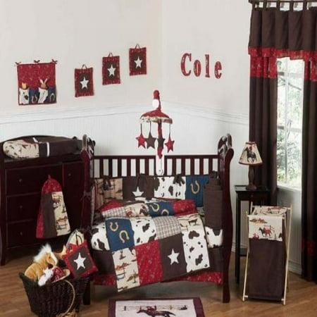Sweet Jojo Designs Wild West Western Horse Cowboy Baby Boy Bedding 9pc Crib