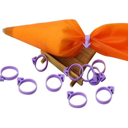 12pcs Piping Bag Fixed Ring Nozzle Seal Cream Coupler Cake Decorating Tools