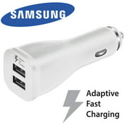 Original Samsung Dual Port USB Adaptive Quick Charge Car Charger Rapid Charge OEM Car Charger For Apple iPhone X iPhone 8 Plus Samsung Galaxy S8 S9+ Plus Note 9 Note 8 LG G7 Google Pixel 2 XL