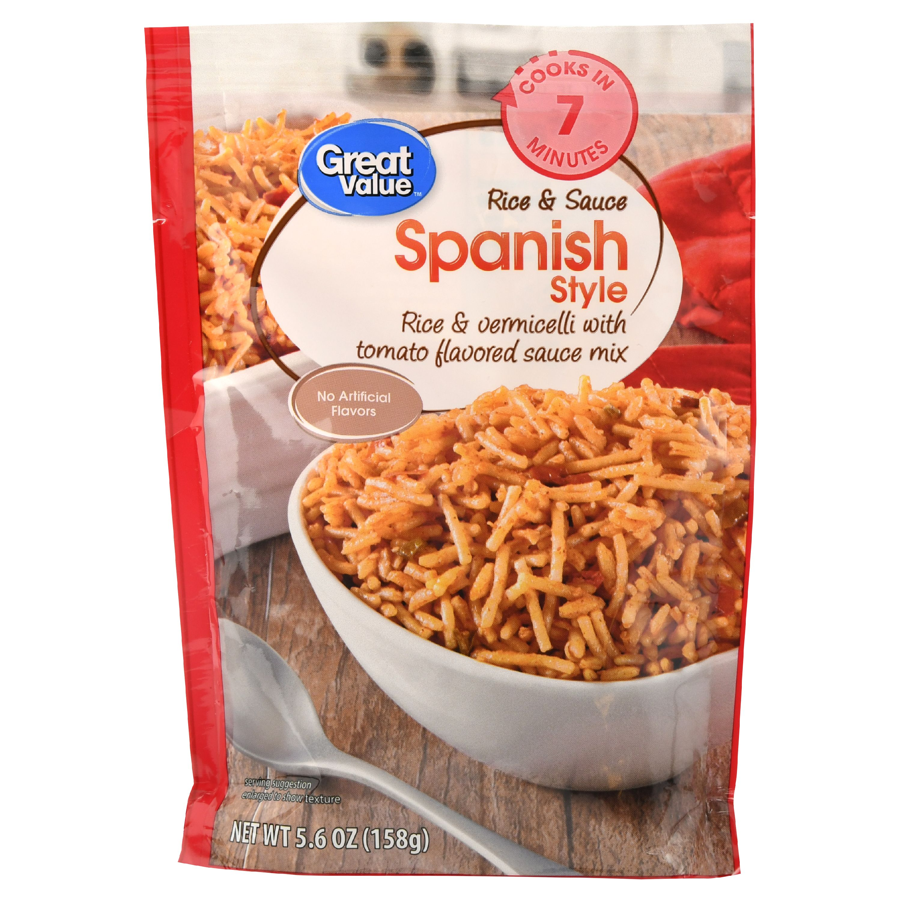 Great Value Rice & Sauce, Spanish Style, 5.6 oz