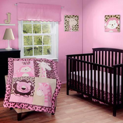 Baby Boom Jungle Friends 3pc Crib Bedding Set