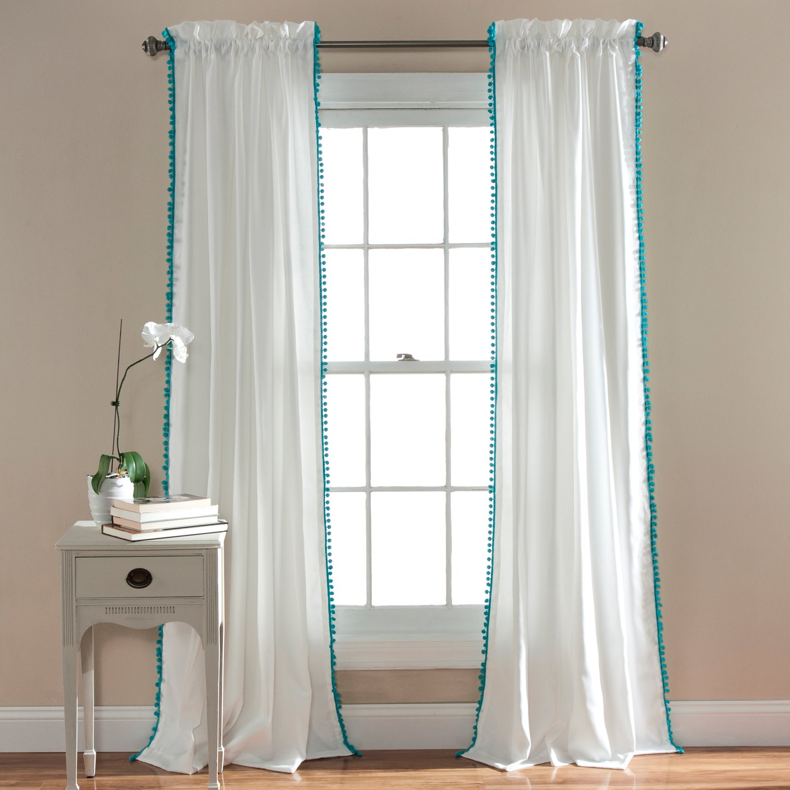 curtain designs drapes blue turquoise new grommet ocean sheer with top dusty sea warm curtains pair come valances affordable scarf of color products window dark slate home