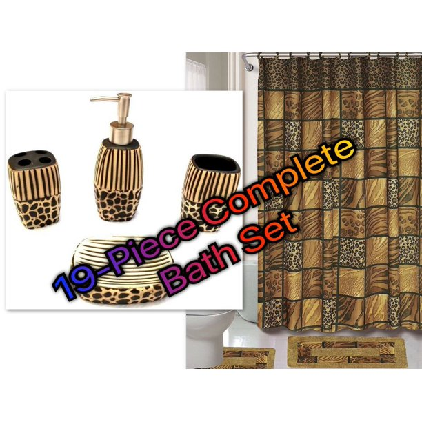 Bathroom Set Rugs Shower Curtain Hooks