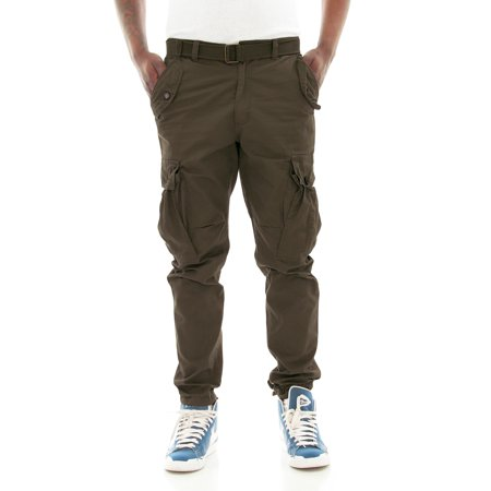 Chain Belted Pant (PJ Mark Men's Slim Fit Twill Belted Cargo Pants )
