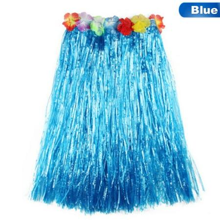 KABOER 60cm Long Hawaiian Grass Hula Skirt Luau Lei Fancy Dress Beach Party Grass Skirts Leis