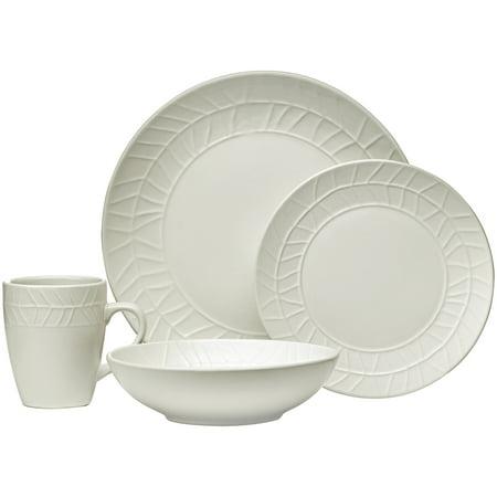 Signature Black Stoneware (Mainstays Nature Collection 16-Piece Off-white Stoneware Dinnerware Set, Walmart)