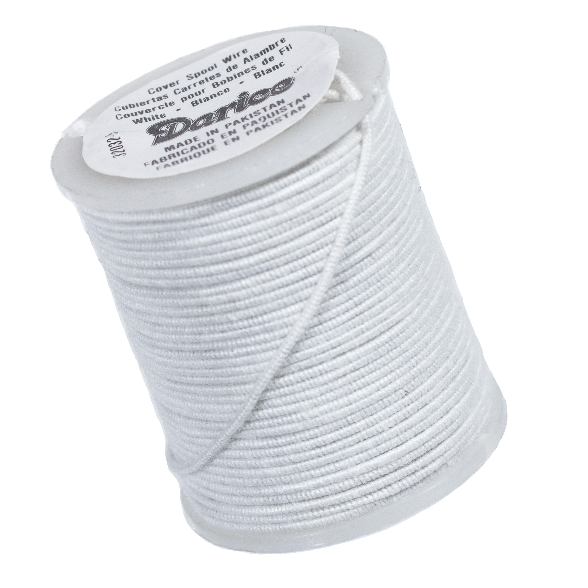 30 Gauge 10 Yards Cloth Covered Wire White