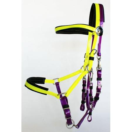 Pony Dressage Bridle - Horse  English Dressage Biothane Bridle Halter Reins Set 40HS66
