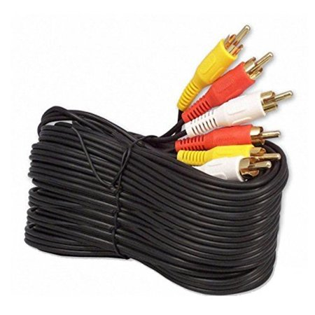 50ft Gold Plated (iMBAPrice 50FT RCA M/Mx3 Audio/Video Cable Gold Plated - Audio Video RCA Cable 50 feet)