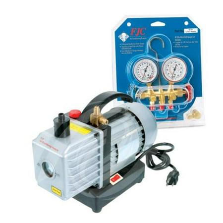 Fjc Inc. Vacuum Pump And Brass Manifold ()