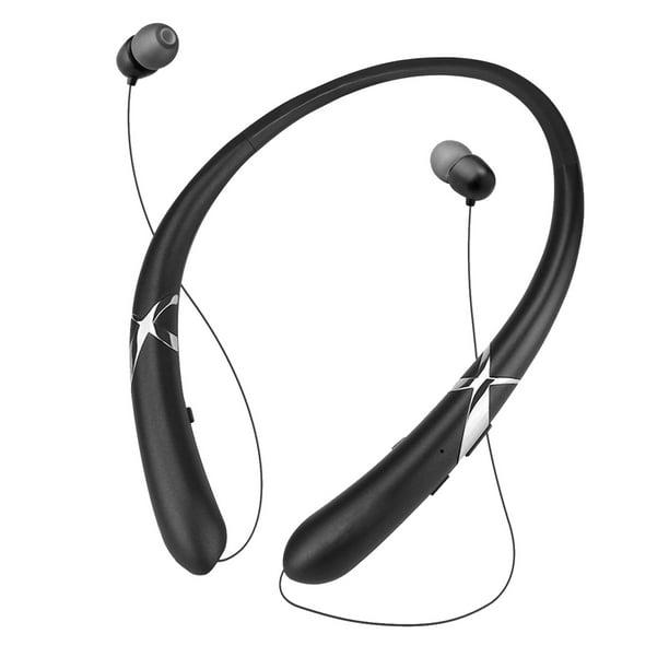 Bluetooth Headphones Eeekit Wireless Neckband Headset With Retractable Earbuds Hd Stereo Noise Cancelling Earphones In Ear Sweatproof Sports Headset With Mic Walmart Com Walmart Com
