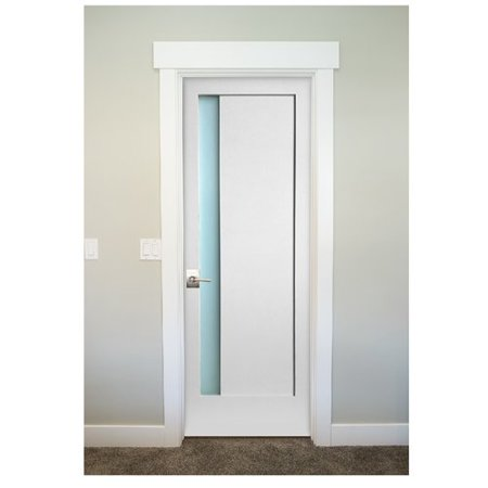 Stile Doors 1 Lite Narrow Satin Etch Solid Manufactured Wood Glass