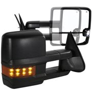 Spec-D Tuning For 2003-2006 Chevy Silverado Gmc Sierra Facelift Power Heat Extend Towing Mirrors + Led Signal (Left+Right) 2003 2004 2005 2006