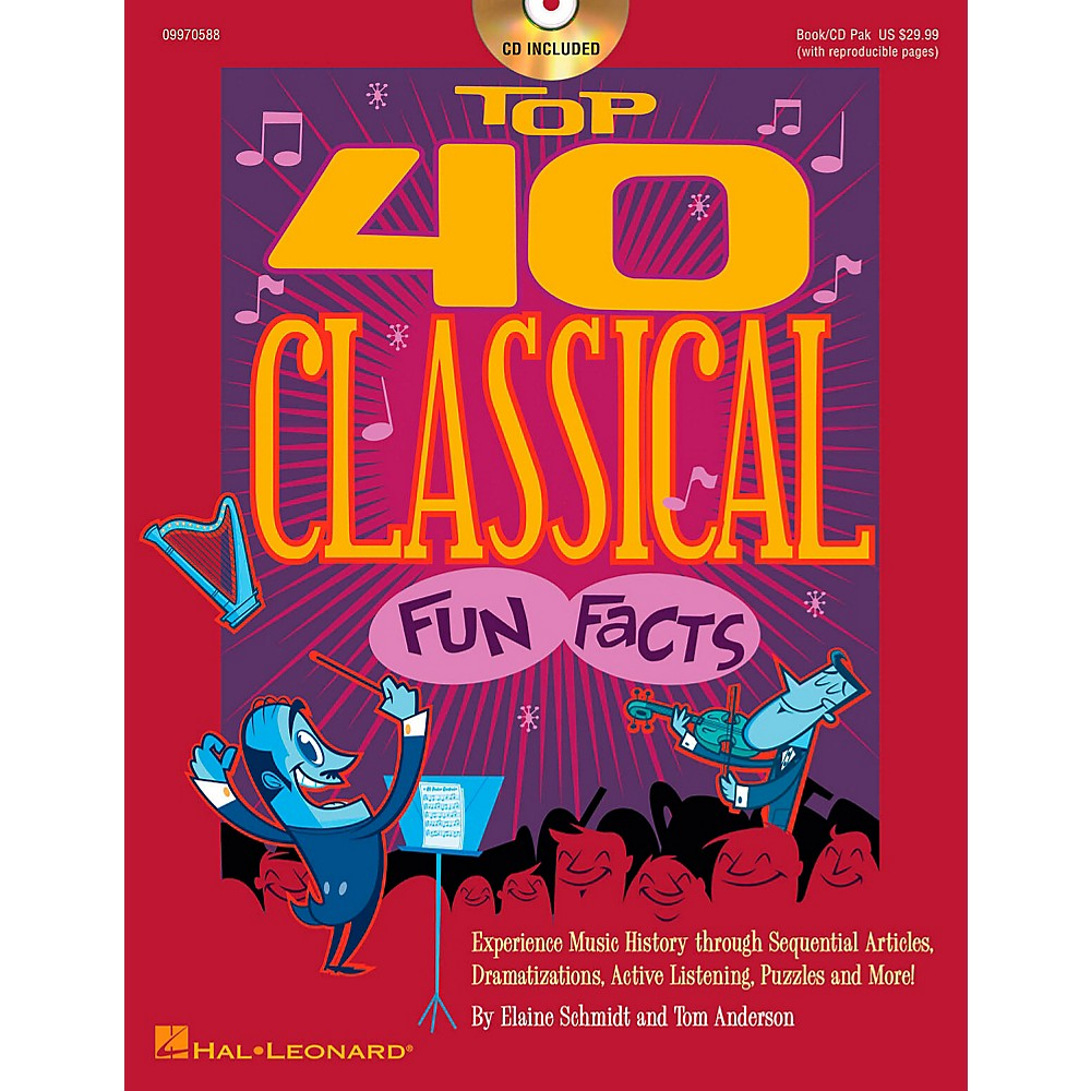 Hal Leonard Top 40 Classical Fun Facts Book/CD