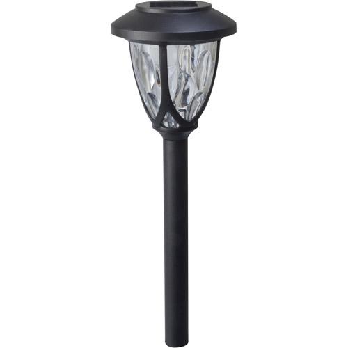 Moonrays 97517 Meredith 4 Pack Solar Powered LED Path Light, Black