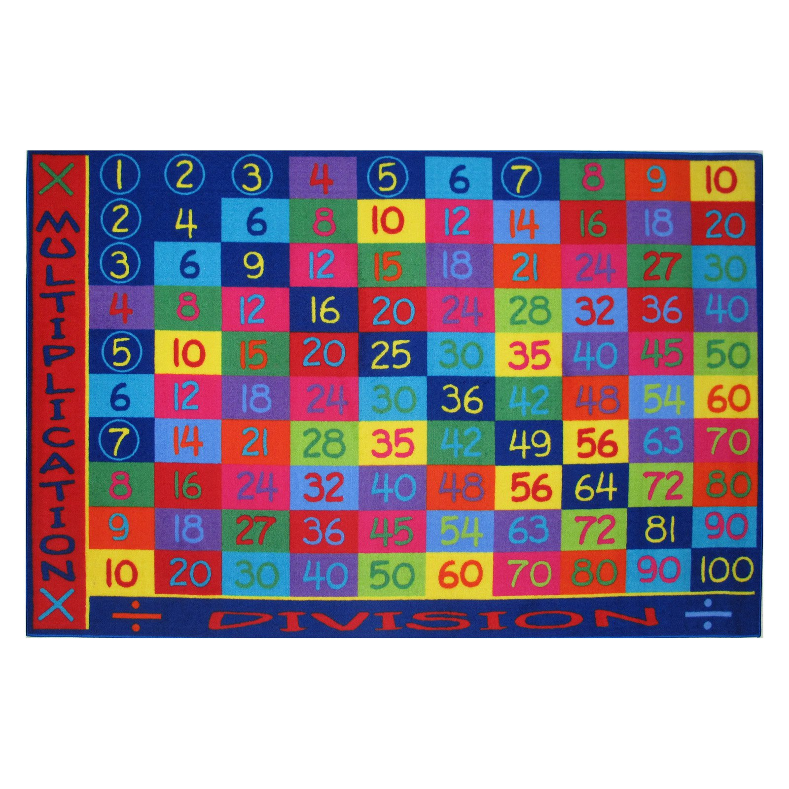 Fun Rugs Children's Fun Time Collection, Multiplication and Division