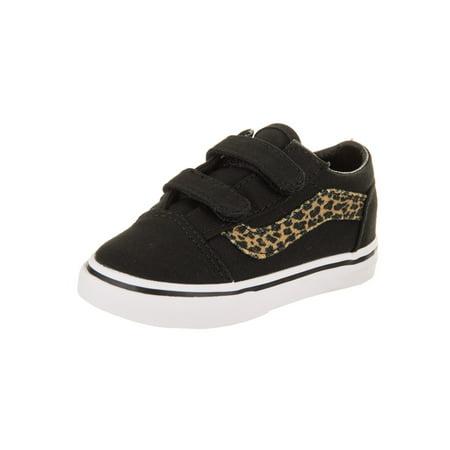 69d21575cc9410 Vans - Vans Toddlers Old Skool V (Mini Leopard) Skate Shoe - Walmart.com