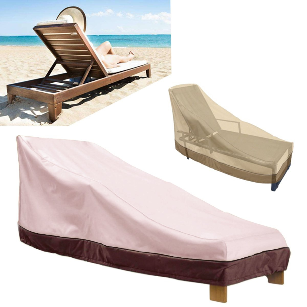 Moaere Waterproof Outdoor Protection Cage Patio Chaise Lounge Recliner Chair Furniture Cover
