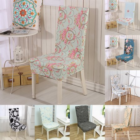 Girl12queen Stretch Removable Washable Dining Chair Protector Cover