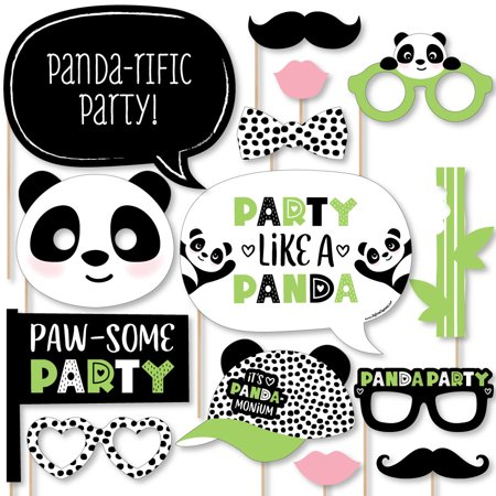 Party Like a Panda Bear - Baby Shower or Birthday Party Photo Booth Props Kit - 20 Count](Panda Bear Party Supplies)