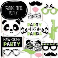 Party Like a Panda Bear - Baby Shower or Birthday Party Photo Booth Props Kit - 20 Count