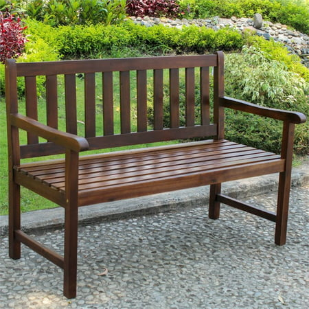 Prime Pemberly Row Patio Garden Bench In Brown Pdpeps Interior Chair Design Pdpepsorg