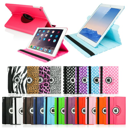 2014 apple ipad air 2 360 degree rotating stand smart cover pu leather swivel (Best Ivso Ipad Air Keyboard Cases)