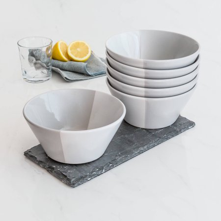 Better Homes & Gardens Color Dipped Bowls, Grey, Set of 6