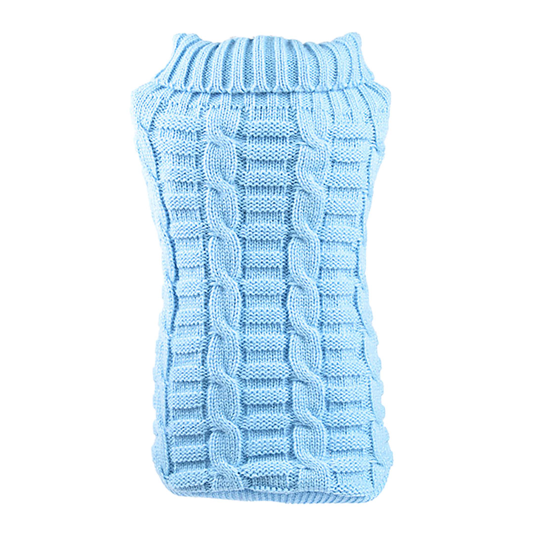 Small Pet Dog Clothes Puppy Cat Sweater Knit Coat Apparel Costume Light Blue, M