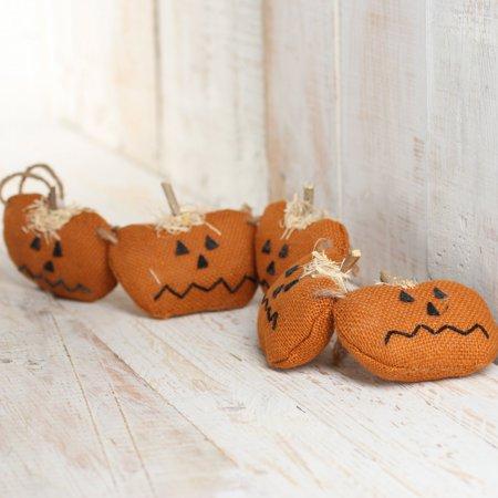 Factory Direct Crafts (Factory Direct Craft Rustic Orange Burlap Halloween Jack O Lantern Pumpkin)