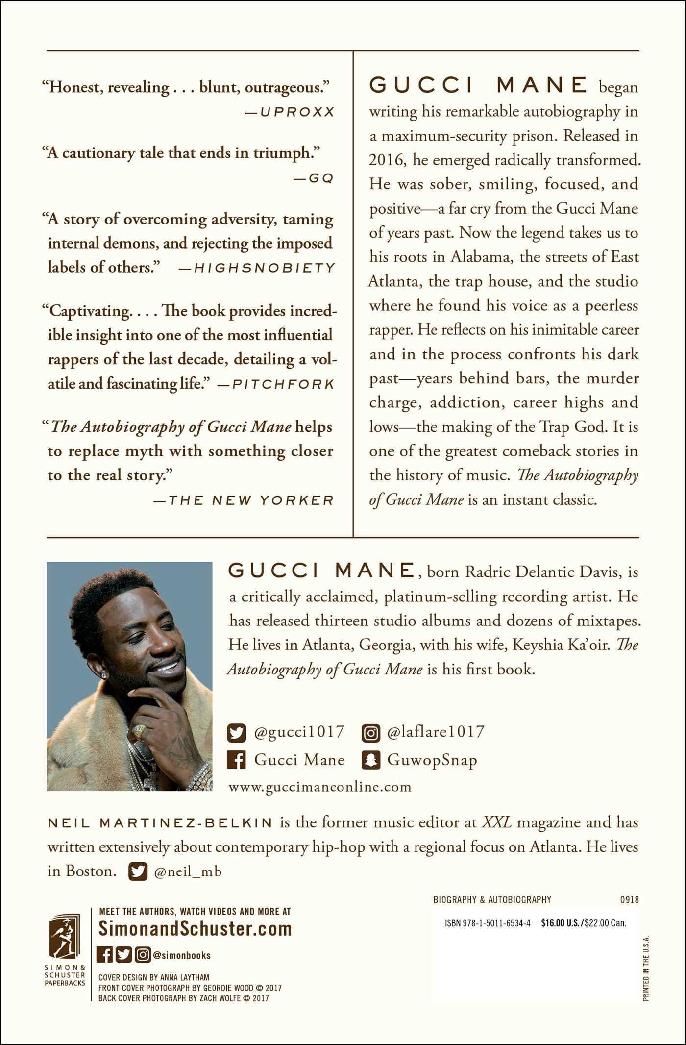 a1ca6d249cc178 The Autobiography of Gucci Mane - Walmart.com
