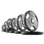 XMark Fitness Rubber Coated Tri-grip Olympic Plate Weights - Sold in Pairs []