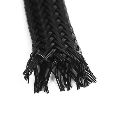 2 Pcs Flexible Expandable Braided Sleeving Wire Cable Sleeve Protector Dia 6mm - image 1 of 2
