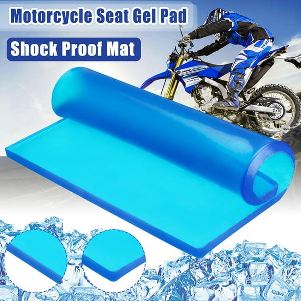 25 x 25 x 2cm Lisyline Motorcycle Seat Gel Pad Shock Absorption Mats Reduce Fatigue Comfortable Soft Cooling Fabric Cushion Blue Cool DIY Saddle