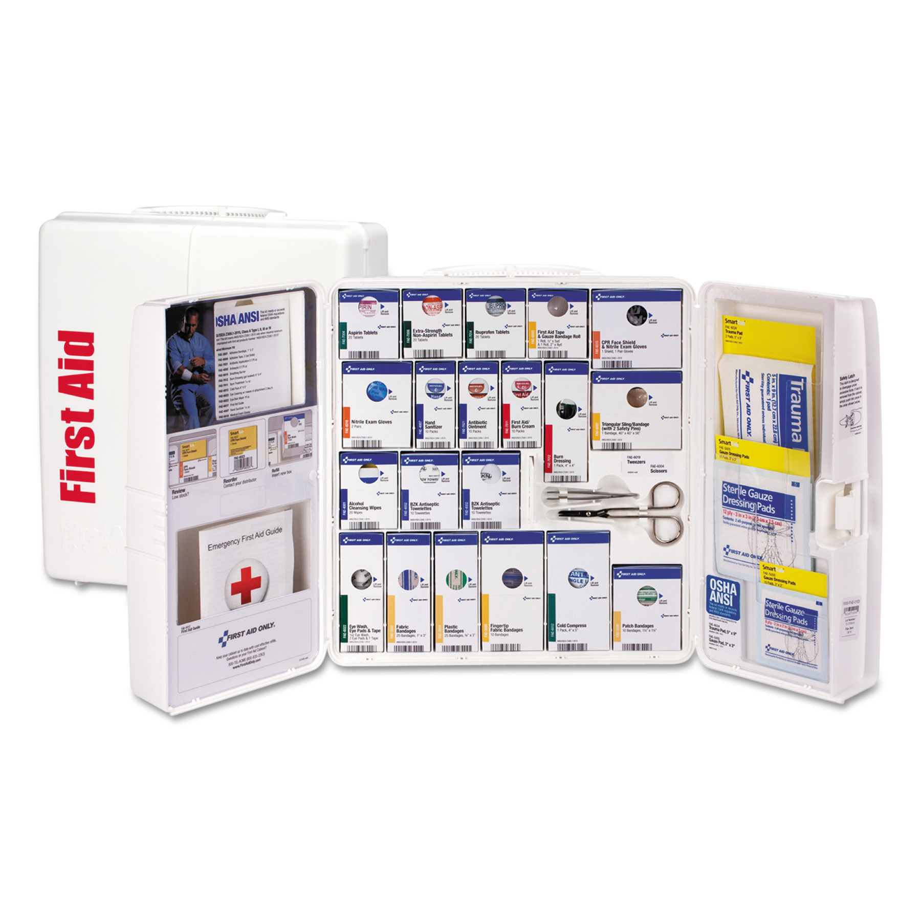 First Aid Only ANSI 2015 SmartCompliance First Aid Station Class A+, 50 People, 241 Pieces