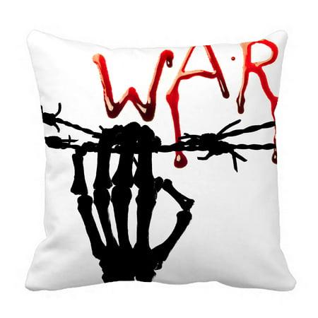 YKCG Bleeding Letter Skull Skeleton Hand Pillowcase Pillow Cushion Case Cover Twin Sides 18x18 inches - Bleeding Skeleton