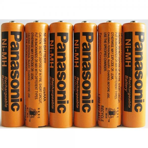 Panasonic NiMH AAA Rechargeable Battery for Cordless Phones x six 6 aaa 700 mah 1.2v batteries
