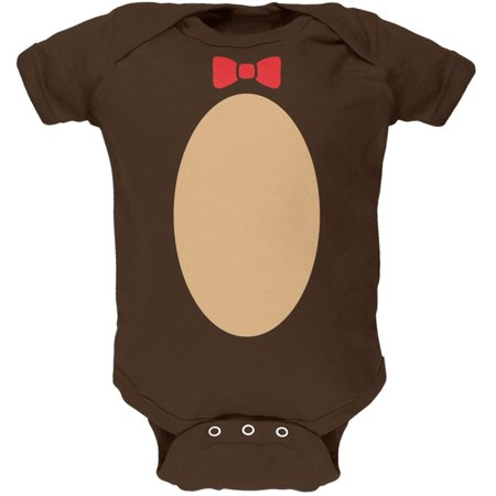 Halloween Teddy Bear Costume Brown Soft Baby One Piece