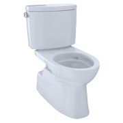 TOTO® Vespin® II Two-Piece Elongated 1.28 GPF Universal Height Skirted Design Toilet with CeFiONtect?, Cotton White - CST474CEFG#01
