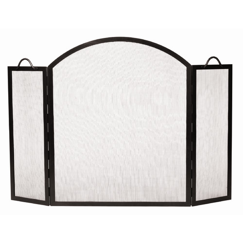 Minuteman International 3 Panel Arched Top Twisted Rope Wrought iron Fireplace Screen by Minuteman International