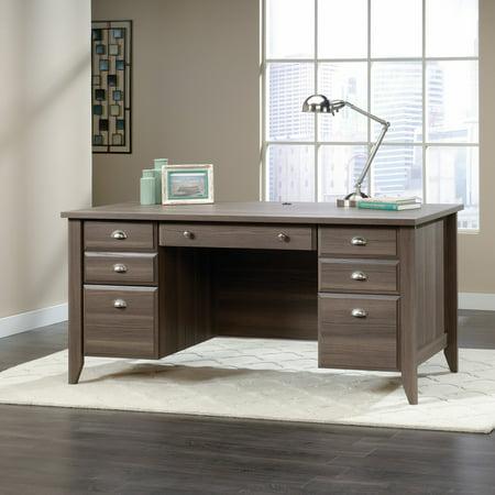 Sauder Shoal Creek Executive Desk with Optional Hutch - Diamond