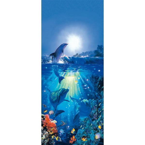 Ideal Décor Dolphin In The Sun Wall Mural