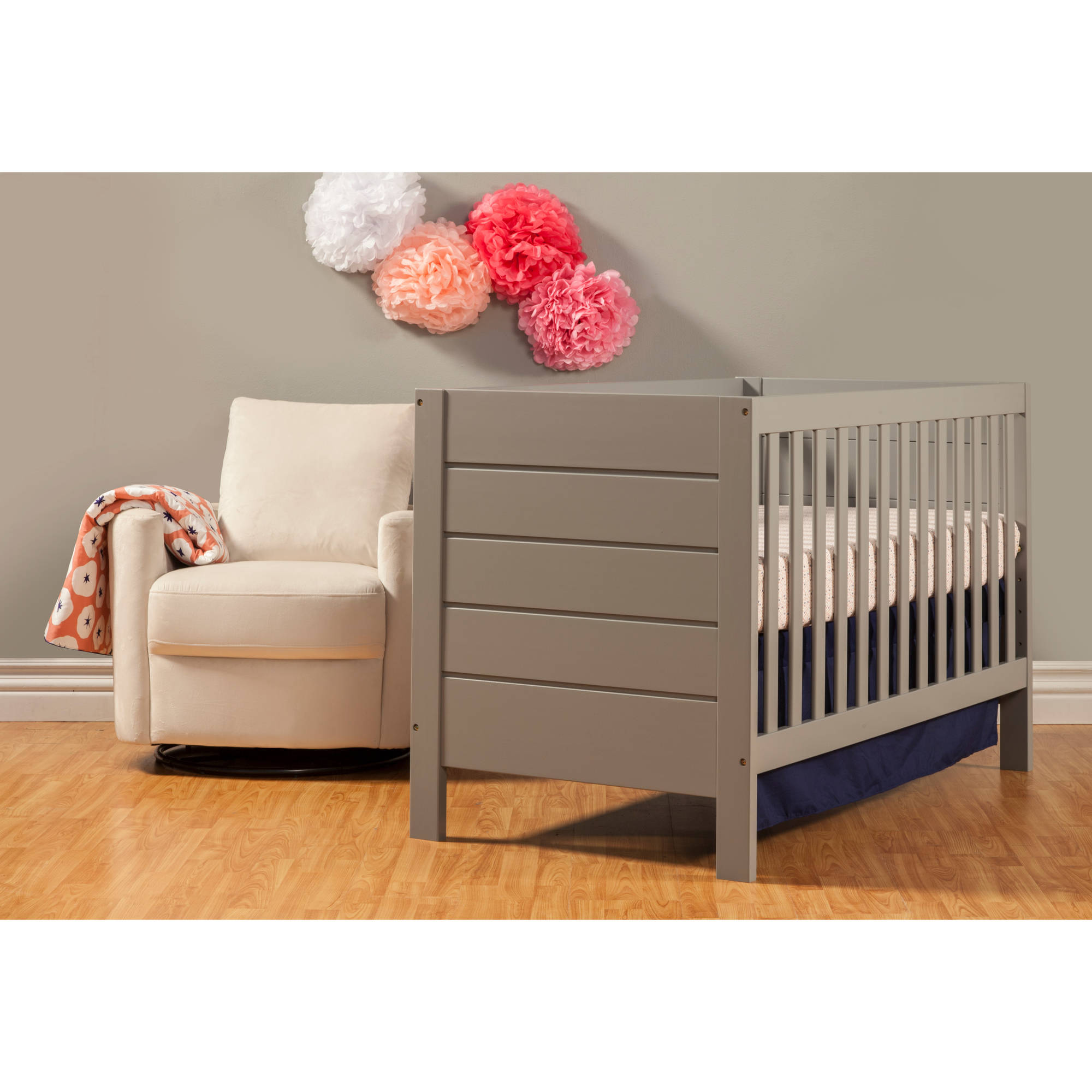 Baby Mod Modena 3 in 1 Convertible Crib Gray Walmart