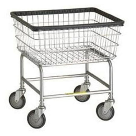 - R&B Wire 100D Narrow Wire Frame Metal Laundry Cart - Chrome