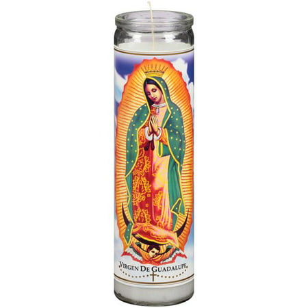 Continental Candle Rosary Series Virgin of Guadalupe Candle, White ...
