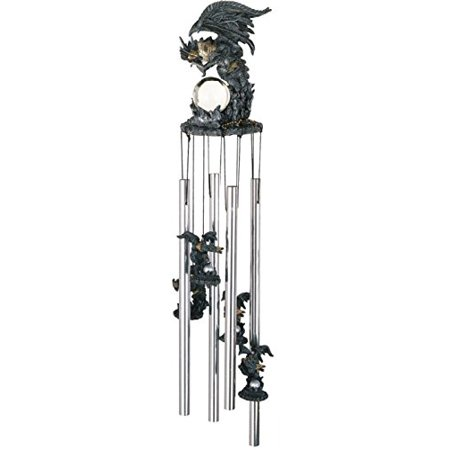 StealStreet SS-G-41010 Wind Chime Round Top Dragon Hanging Garden Porch Decoration Decor