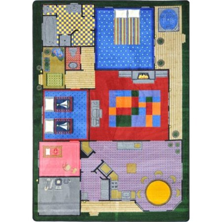 - Kid Essentials Creative Play House Active Play & Juvenile Rectangle Rugs, Multi Color - 7 ft. 8 in. x 10 ft. 9 in.